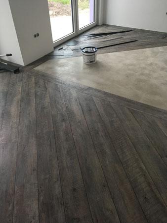 Fußboden Vinyl Diagonale Verlegung